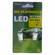 Set 2 becuri auto plafoniera T10, RoGroup,  LED