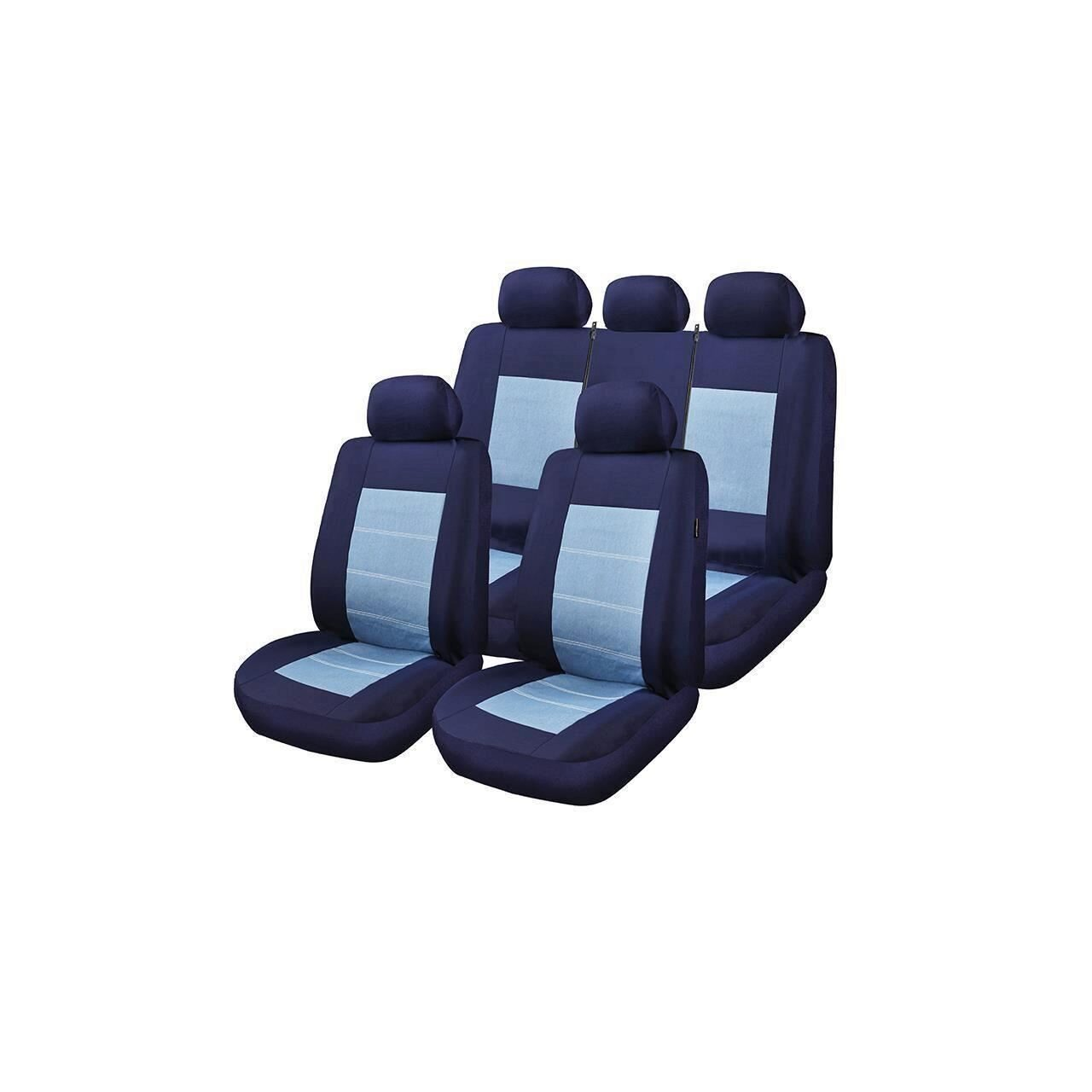 Huse Scaune Auto Blue Jeans Rogroup  9 Buc Hyundai